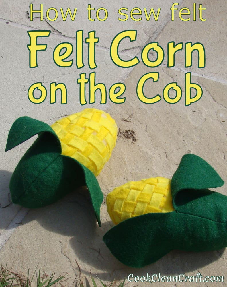 Cute felt corn sewing tutorial, with removable husk. Great addition to your kids felt food collection. Encourage imaginative play in your kids.  Another fun DIY craft tutorial from Cook Clean Craft.