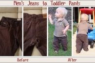 Men's Shorts to Boy's Pants