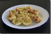 Quick Pesto Chicken Mini-Quiches