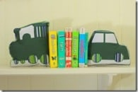 Car, Boat, Train: Fabric Bookends