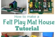 Tutorial: Felt Car Play Mat-House