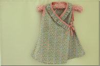 Ruffled Wraparound Toddler Dress