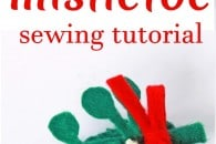 Felt Mistletoe Hairclip Tutorial