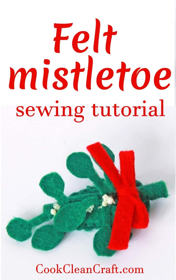 Felt Mistletoe Hairclip Tutorial Cook Clean Craft