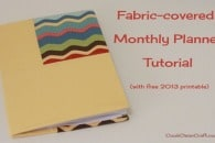 Fabric 2013 Printable Monthly Planner