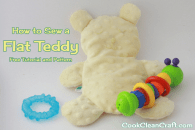 Baby Shower Gift: Flat Teddy Tutorial and Pattern
