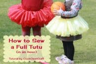 How to Sew a Full Tutu Skirt Tutorial