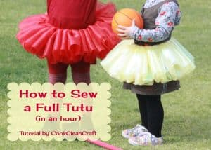 How to sew a full tutu skirt in an hour tutorial