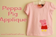 Peppa Pig Applique – Kids Clothes Week Day 1