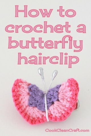 Crochet Butterfly Hairclip (4)