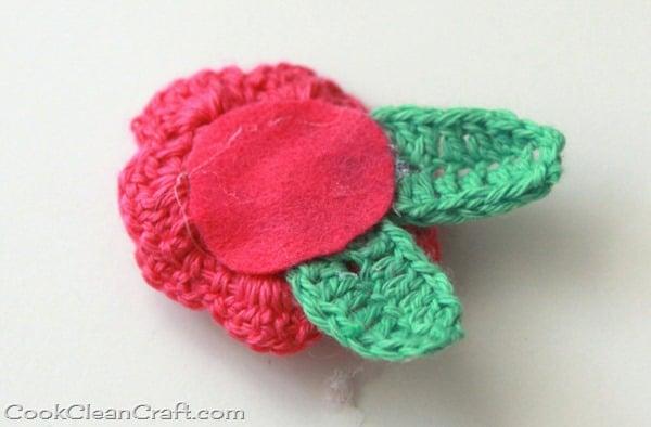 Crochet Rosette Hairclip (2)