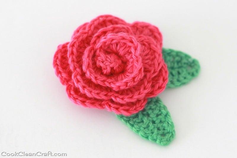 Crochet Rosette Hairclip Cook Clean Craft
