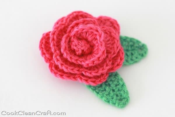 Crochet Rosette Hairclip (3)