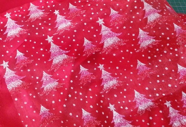 Sparkly Christmas Tree Fabric