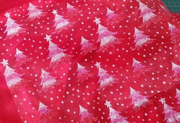 Sparkly Christmas Tree Fabric
