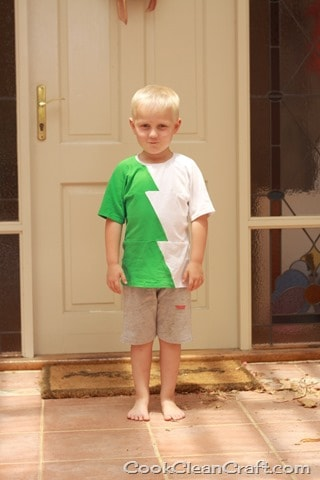 Sew a Christmas Tree-inspired t-shirt with this free sewing tutorial. Great project to sew for boys that can be worn all year round!