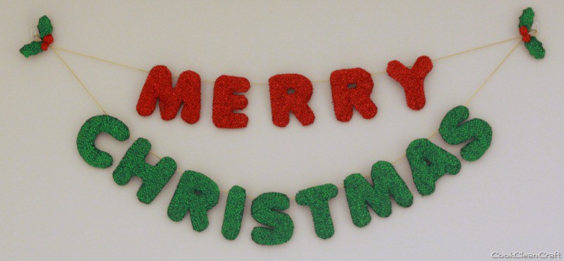 Merry Christmas Banner Tutorial Cook Clean Craft
