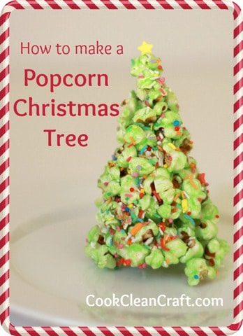 Popcorn Christmas Tree Tutorial | Cook Clean Craft
