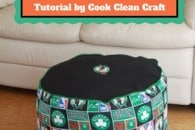 How to sew a foot stool {tutorial}