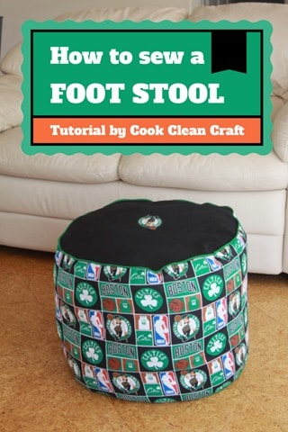 How to sew a foot stool