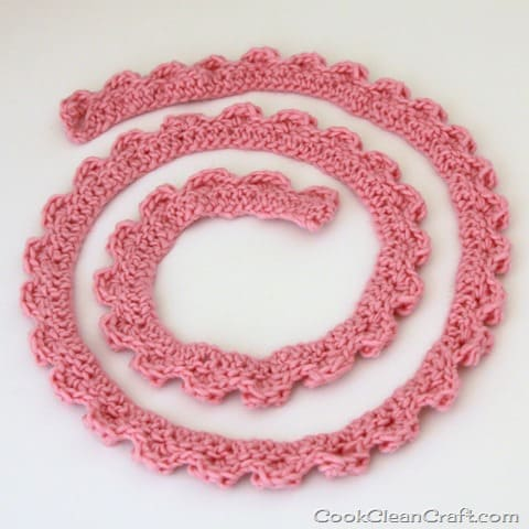 How to Crochet a Skinny Scarf Cook Clean Craft