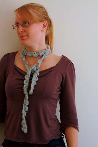 Crochet Skinny Scarf-005