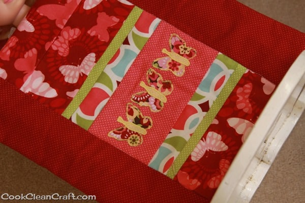 Butterfly applique doll's quilt