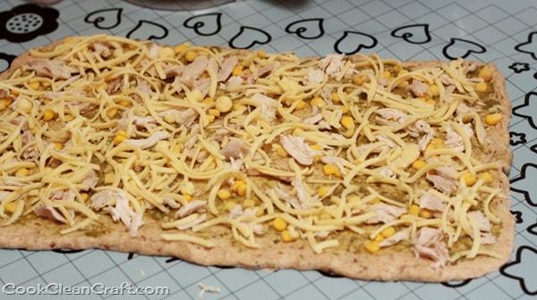 Chicken Corn Pesto Scrolls (3)