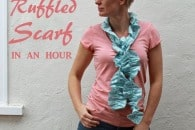 How to sew a ruffled scarf {tutorial}