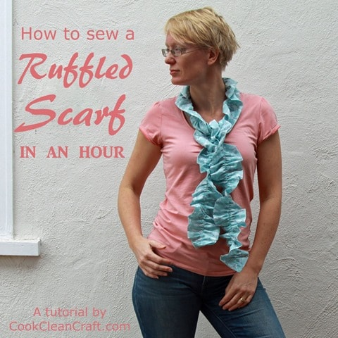 Sew a ruffled scarf tutorial (1)