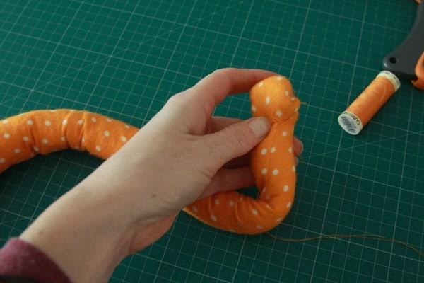 Sew a stuffed snail (9)
