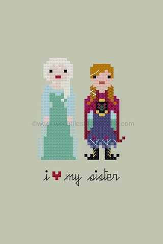 Anna Elsa Cross-stitch'