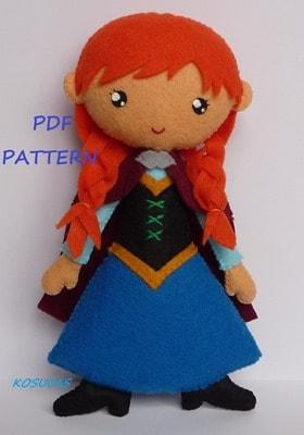 Anna Felt Doll