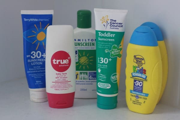 Clean out the sunscreen (2)