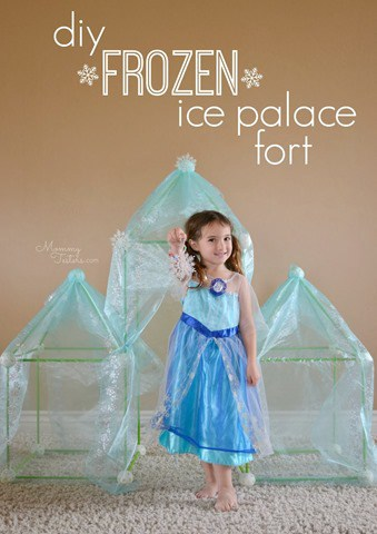 DIY disney frozen ice palace fort