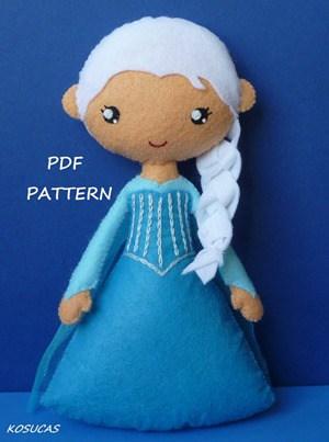 Elsa Felt Doll