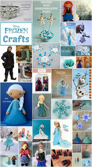 Frozen Crafts Collage