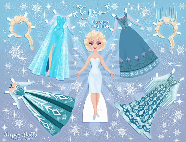 Frozen Paper Dolls