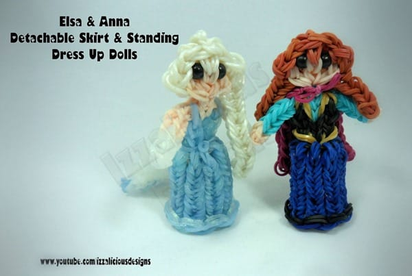 Rainbow Loom Anna and Elsa