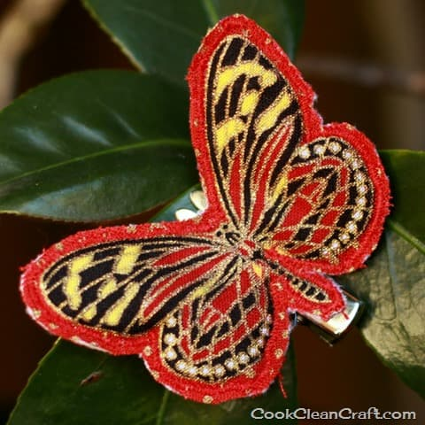 Sew a butterfly hairclip (10)