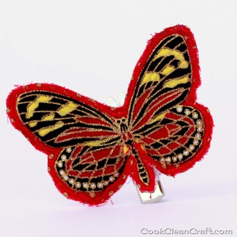 Sew a butterfly hairclip (1)