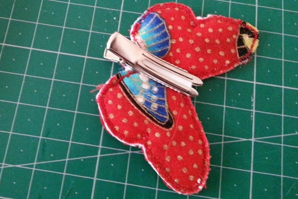 Sew a butterfly hairclip (7)