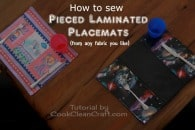 How to sew laminated placemats