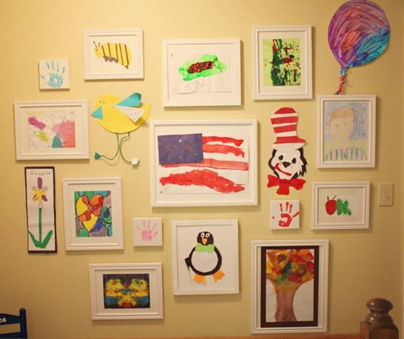 Framed Kids Art Display