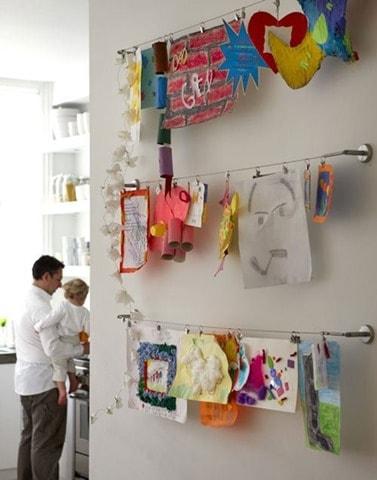 Curtain rail art display