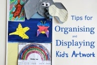 Organising and Displaying Kids' Artwork