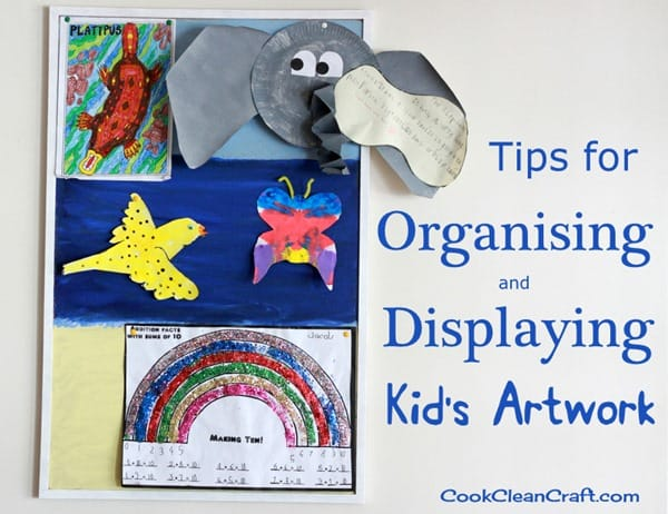Tips for Organising and Displaying Kids Artwork