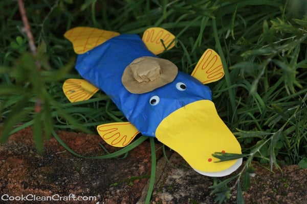 Paper bag Perry the Platypus craft (2)