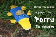 Paper-bag Perry the Platypus Craft