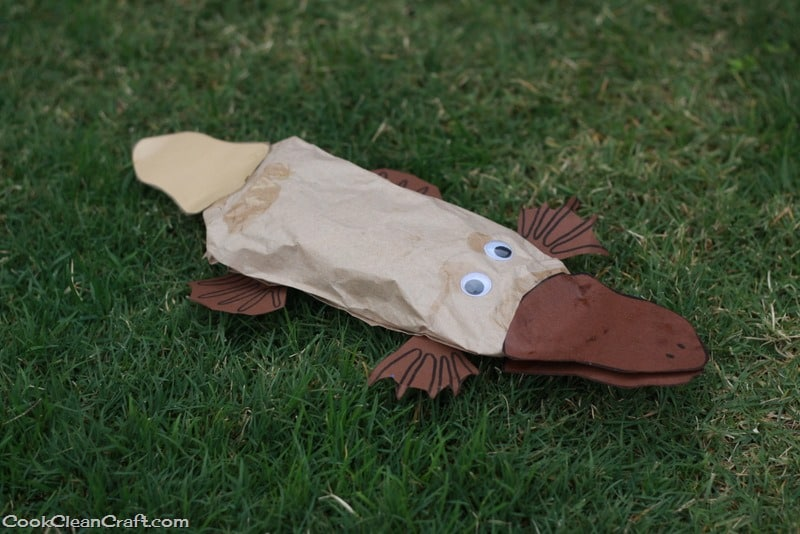 Paper Bag Perry The Platypus Craft Cook Clean Craft